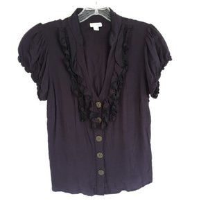 Anthropologie Odille 2 Dew Point Plum Blouse Top